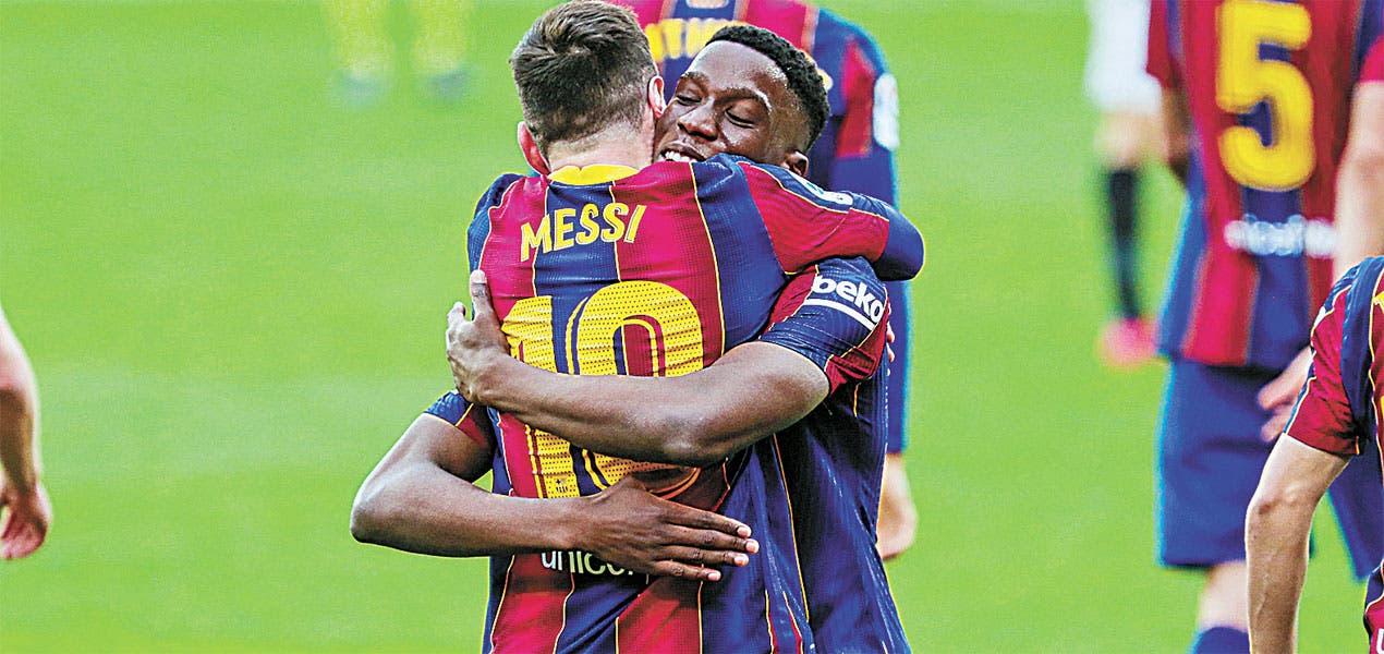 Dembelé y Messi dan 3 puntosal Barsa, quese coloca a 2 del líder general