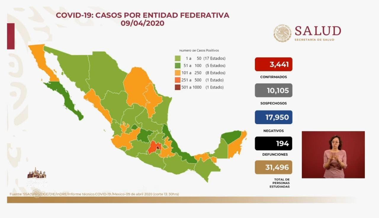 Casi 200 muertos en México a causa del coronavirus