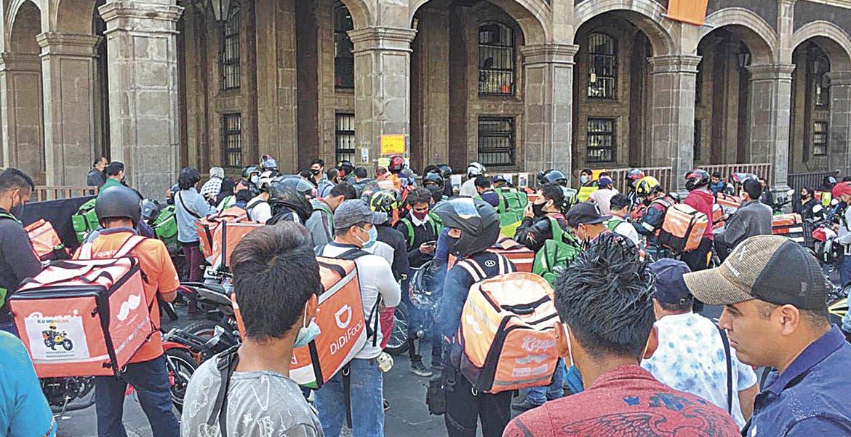 En Cuernavaca, se manifiestan repartidores pidiendo seguridad