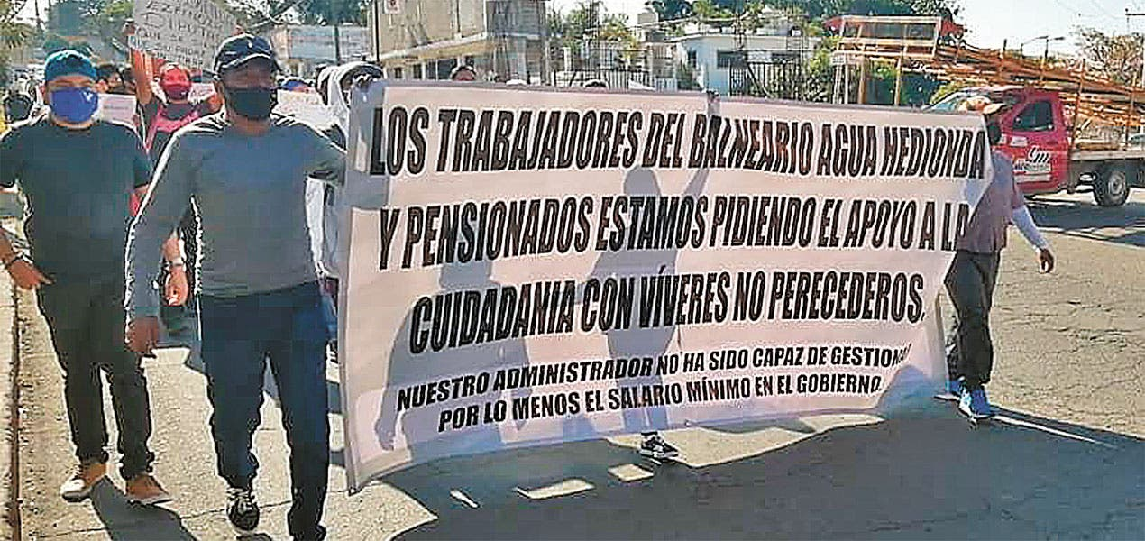 Reclaman salarios trabajadores de Agua Hedionda, en Cuautla