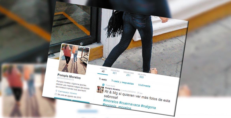 Acosador - En redes sociales está cuenta de twitter exhibe los traseros y otras partes de mujeres, las cuales fotografía descuidadas desde una ventana.