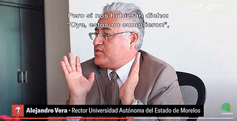 Falla Tribunal Federal de Justicia Administrativa contra ex rector Alejandro Vera