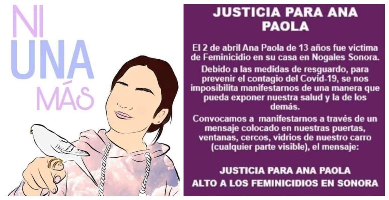 Piden justicia para Ana Paola, asesinada en su propia casa mientras cumplía cuarentena, solo tenía 13 años
