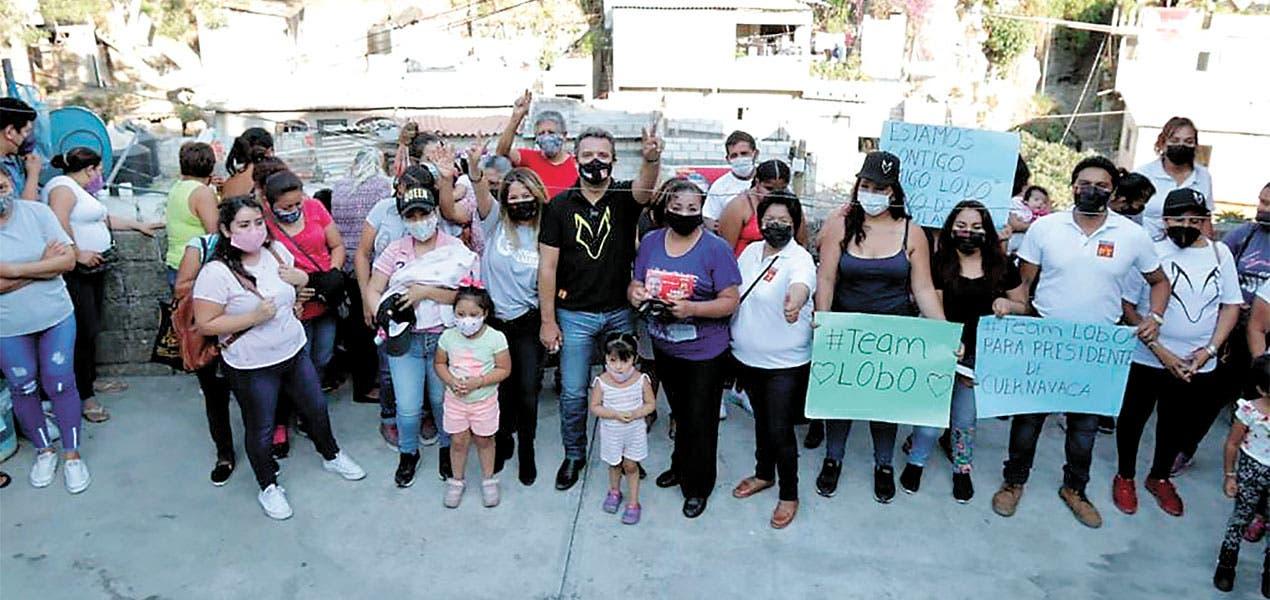 Recibe Lobito respaldo de vecinos en Cuernavaca