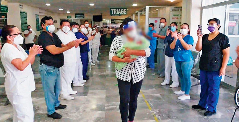 Recién nacido supera COVID-19 en el IMSS de Morelos