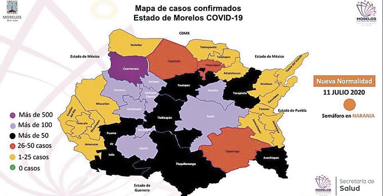 Fallece en Morelos 21.8% de confirmados con COVID-19