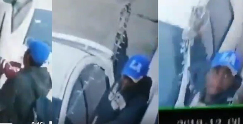 Captan a sujeto robando series navideñas de una casa en Cuernavaca