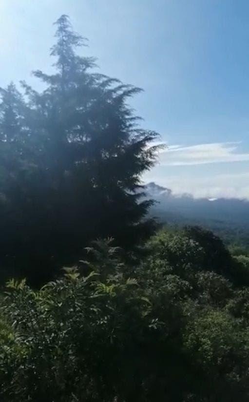 Así la vista de Cuernavaca bajo un mar de nubes, tomada desde la Pera, Cuautla