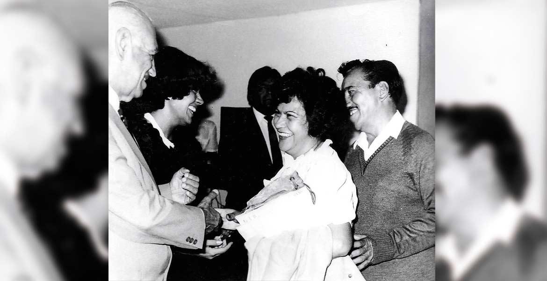 El Presidente Cecilio Huicochea y el Gobernador Lauro Ortega Martínez.