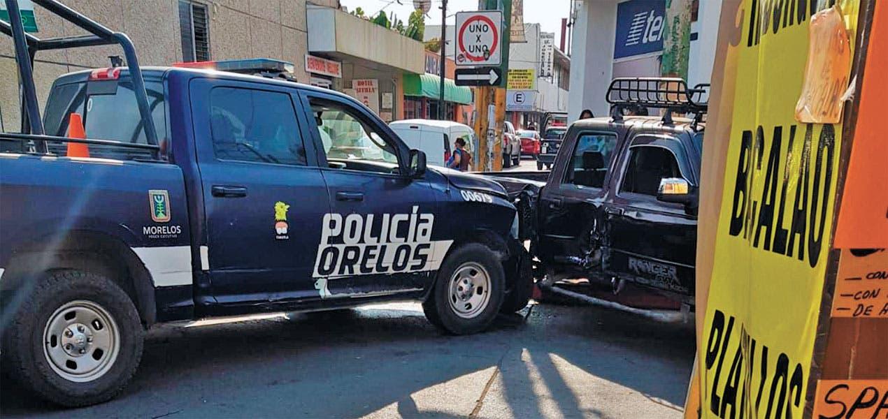 Choca patrulla en Cuautla