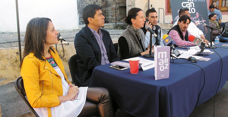 La presentación. La secretaria de Cultura Cristina Faesler, junto con representantes de la IP, dieron a conocer el programa del Primer Festival Internacional de Primavera.