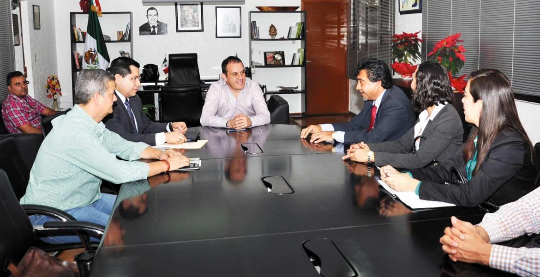 Reunión. El alcalde Cuauhtémoc Blanco tuvo un encuentro con directivos del Centro Internacional de Estudios Superiores de Morelos y del Instituto Mexicano de Educación Superior y Alta Dirección.