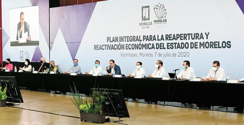 Presenta Cuauhtémoc Blanco plan para la reactivación de Morelos
