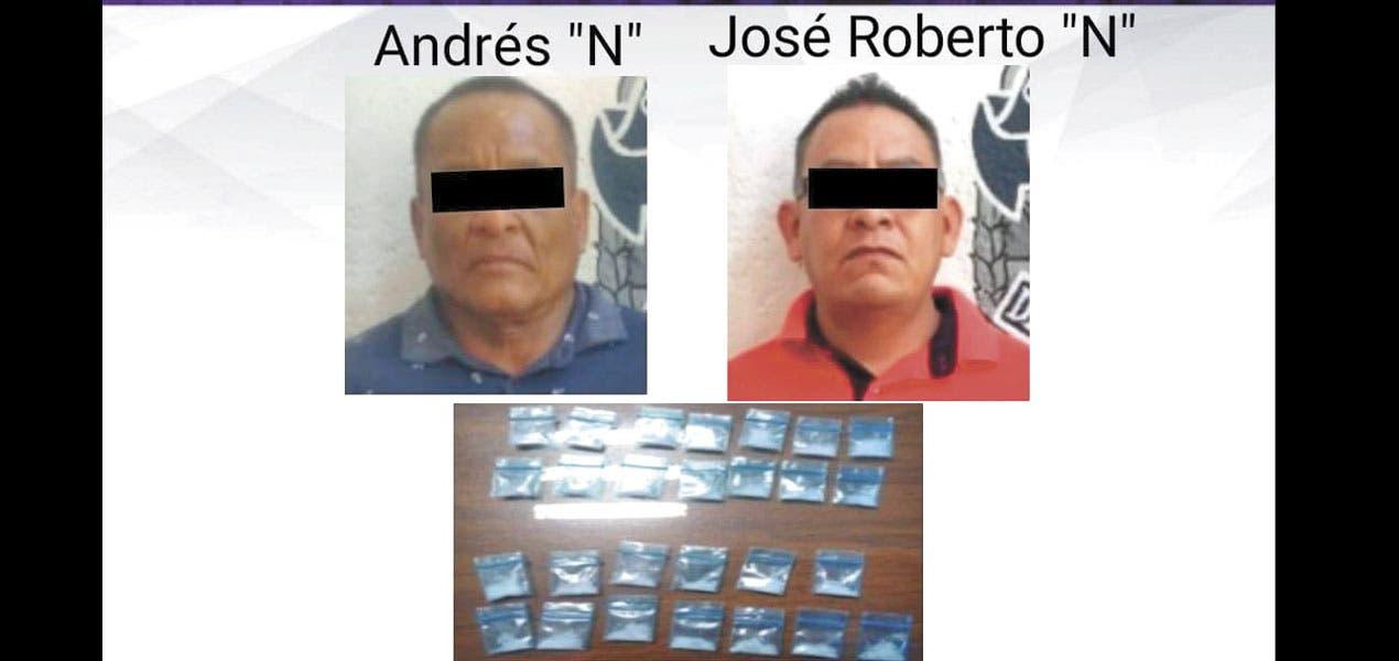 Caen dos en Zacatepec con droga