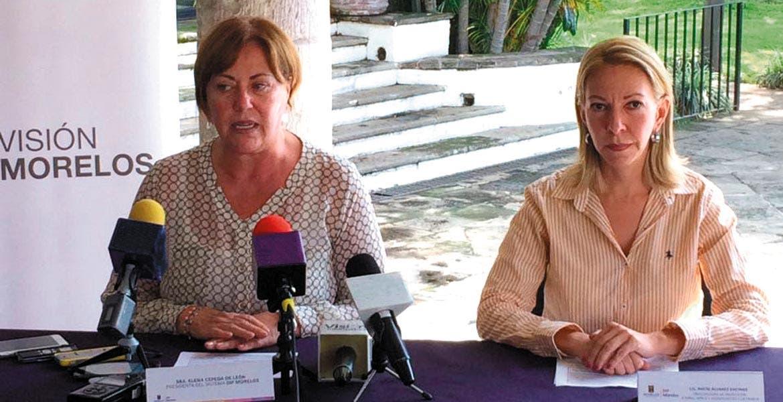 Delito. La presidenta del DIF estatal, Elena Cepeda, y la procuradora de Proteción a Niños, Rocío Álvarez