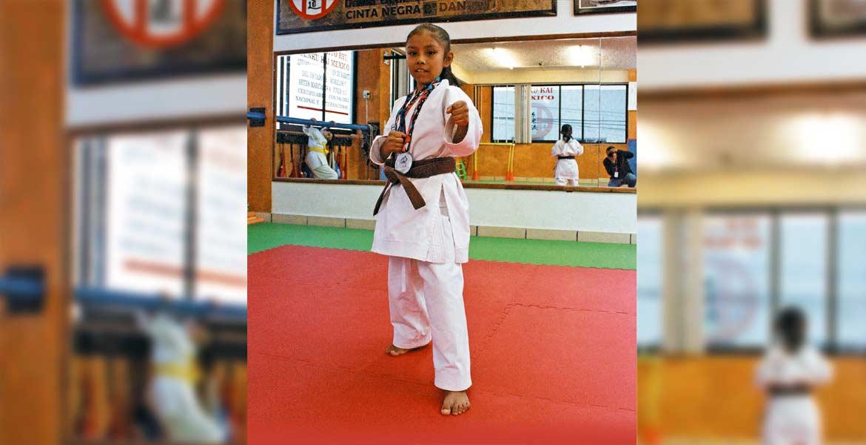 Para mí el karate significa disciplina, esfuerzo y mucho más. Me encanta mucho practicar este deporte.- Darani Yunuen Cruz Torres, karateca.