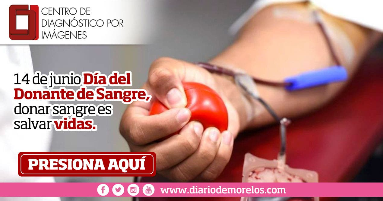 14 de junio Día Mundial del Donante de Sangre, donar sangre es salvar vidas