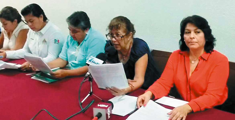 Violencia. Diputadas se unieron a la denuncia de la síndica Susana Fuentes.