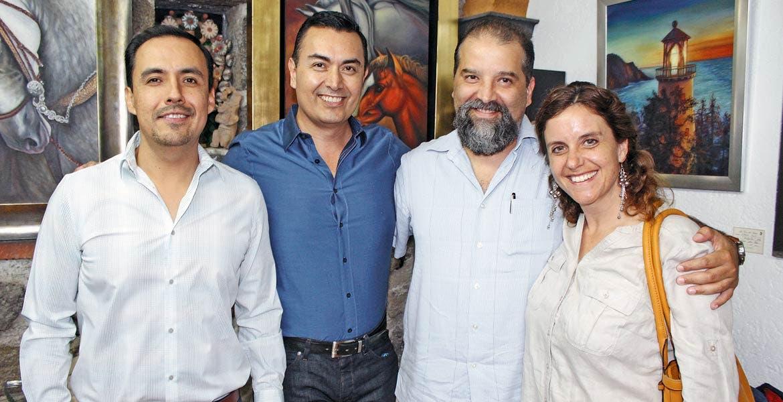 Jaime Vera, Gilberto Figueroa, Sergio y Cristina González.