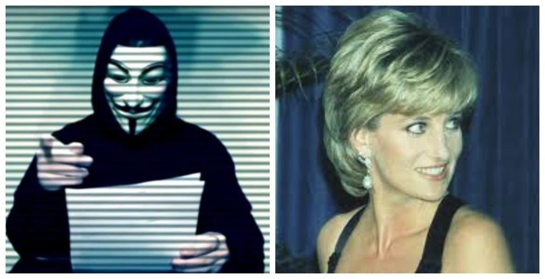 El hacker Anonymus reveló que la Familia Real si planeó muerte de la princesa Diana