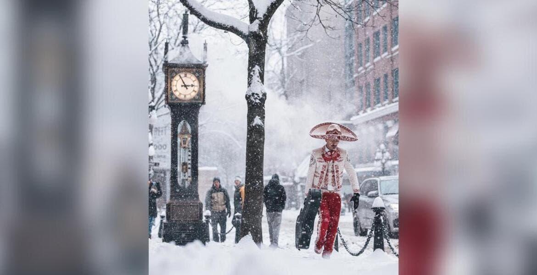 El mariachi que se hizo viral al hacer frente a tormenta de nieve