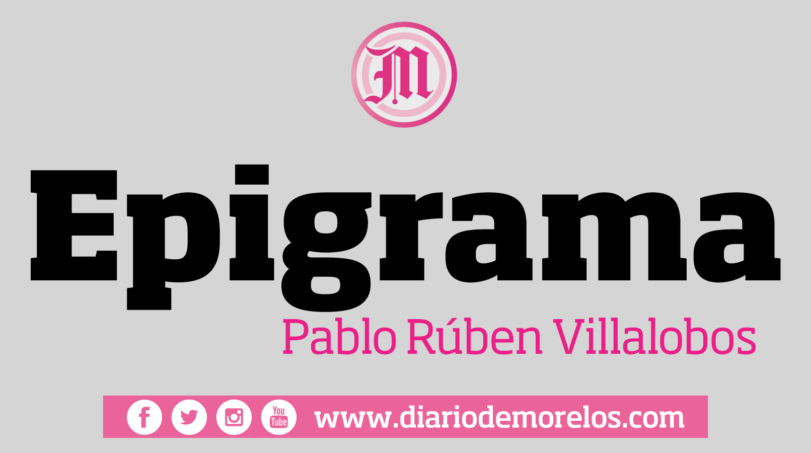 Epigrama - Por Pablo Rubén Villalobos