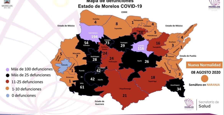 Esta es la situación actual sobre COVID-19 en el estado de Morelos al 8 de agosto