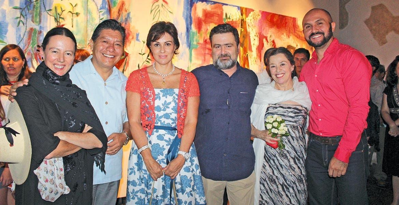 Cristina Faesler, Matías Quiroz, María Helena Noval, Carlos Palacios, Magali Lara y José Valtierra.