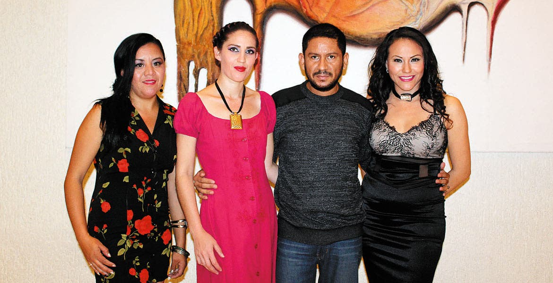 Paola Botello, Mariana Salazar, Neftalí Vázquez y Ann Aville