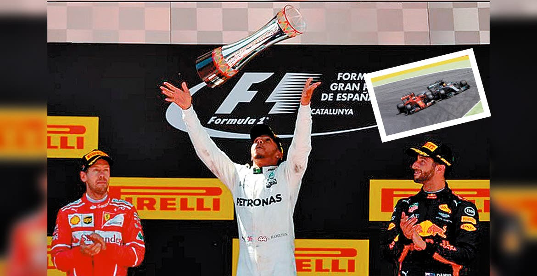 Lewis Hamilton conquistó el GP de España