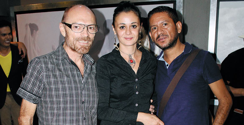 Mario Velázquez, Ivanna Pérez y Neftalí Velázquez.