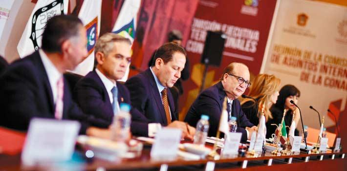 Encuentro. El Gobernador Graco Ramírez durante la Reunión de la Comisión Ejecutiva de Asuntos Internacionales.