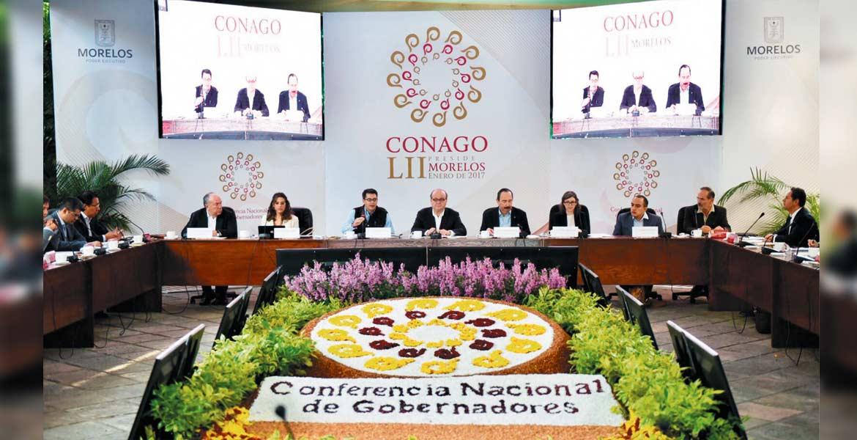 Asistencia. El Gobernador Graco Ramírez durante la reunión de la Conferencia Nacional de Gobernadores; dijo que debe haber más diálogo con el Gobierno federal.
