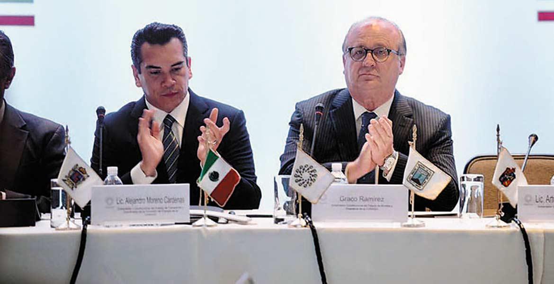 Participación. El Gobernador Graco Ramírez durante la Reunión de Instalación de la Comisión Ejecutiva de Energía.