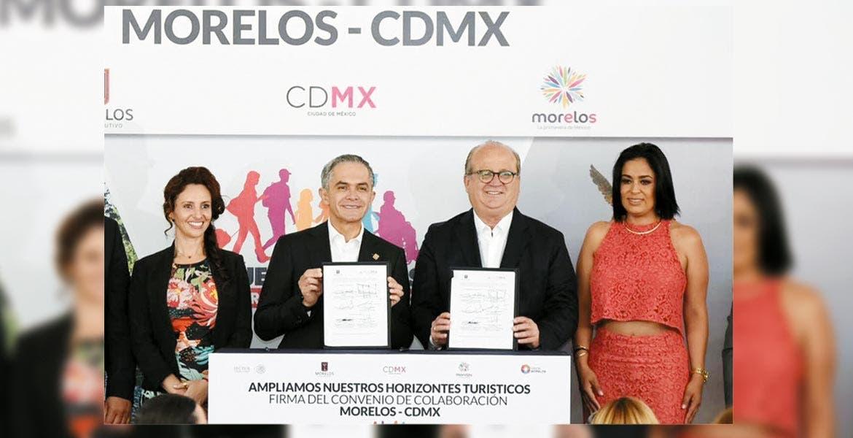 El gobernador de Morelos, Graco Ramírez, y el jefe de gobierno de la CDMX, Miguel Ángel Mancera, firmaron el Convenio de Colaboración Turística entre Morelos y la CDMX