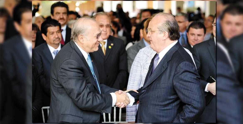 Carta intención. El Gobernador Graco Ramírez, con el secretario general de la OCDE, José Ángel Gurría.