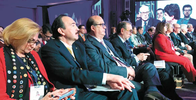 Pleno. El Gobernador Graco Ramírez, presidente de la Conago, durante la plenaria de la Asociación Nacional de Gobernadores de Estados Unidos.