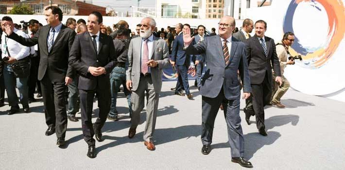 Evento. Graco Ramírez acudió a la toma de protesta de Antonio Gali Fayad como gobernador de Puebla.