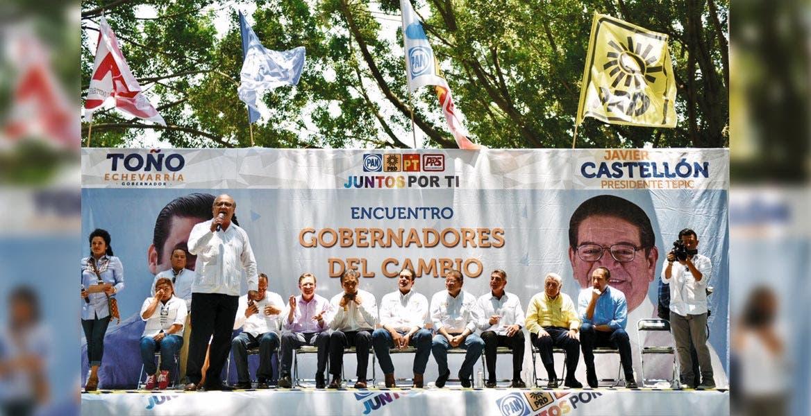 """Invitado. El Gobernador Graco Ramírez acompañó al candidato de la alianza """"Juntos por Ti"""" en Nayarit, Antonio Echevarría"""