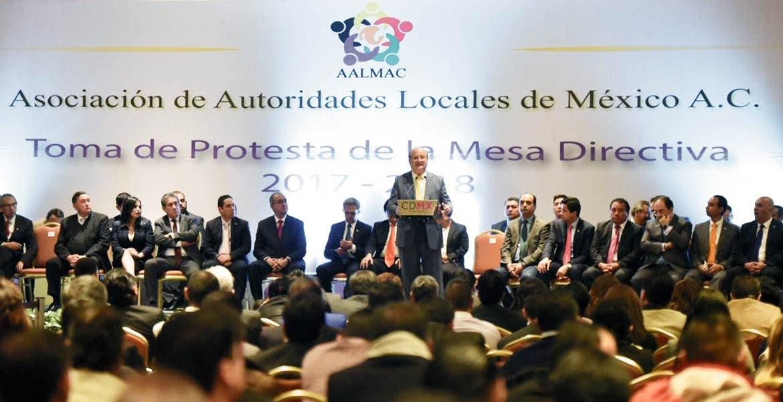 Pronunciamiento. El Gobernador Graco Ramírez, presidente de la Conago, dio un mensaje en el marco de la toma de protesta del nuevo directivo de la Asociación de Autoridades Locales de México (AALM).