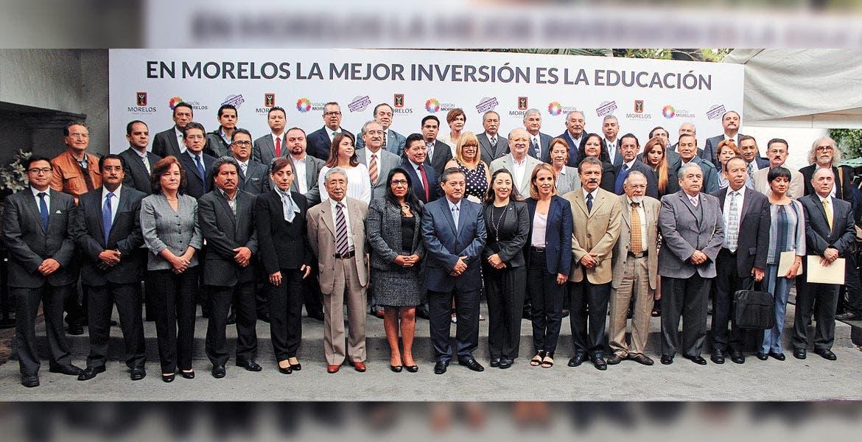 Reunión. Autoridades estatales y rectores de instituciones de educación superior, tanto públicas como privadas, abordaron el tema de inversión educativa.