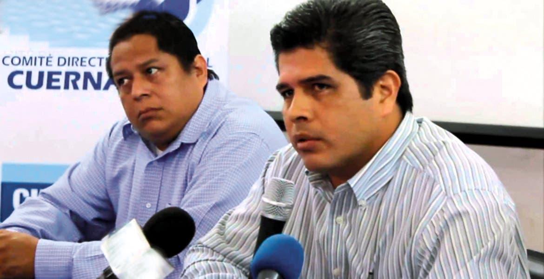 Se reserva. Héctor Guerrero, presidente del PAN municipal, deja para después comentarios de su contratación en el Ayuntamiento.