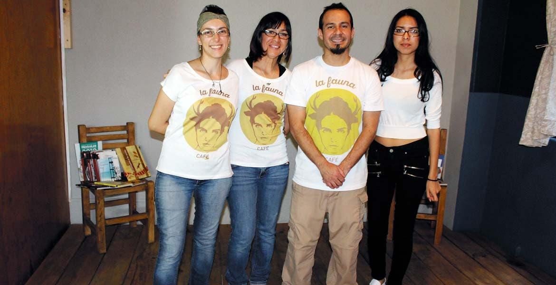 Candy Jiménez, Grace García, Javier Solórzano y Selina García.