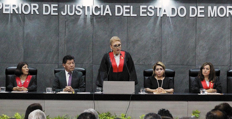 Informe. María del Carmen Verónica Cuevas López informa de los resultados del primer año de su administración al frente del Tribunal Superior de Justicia.