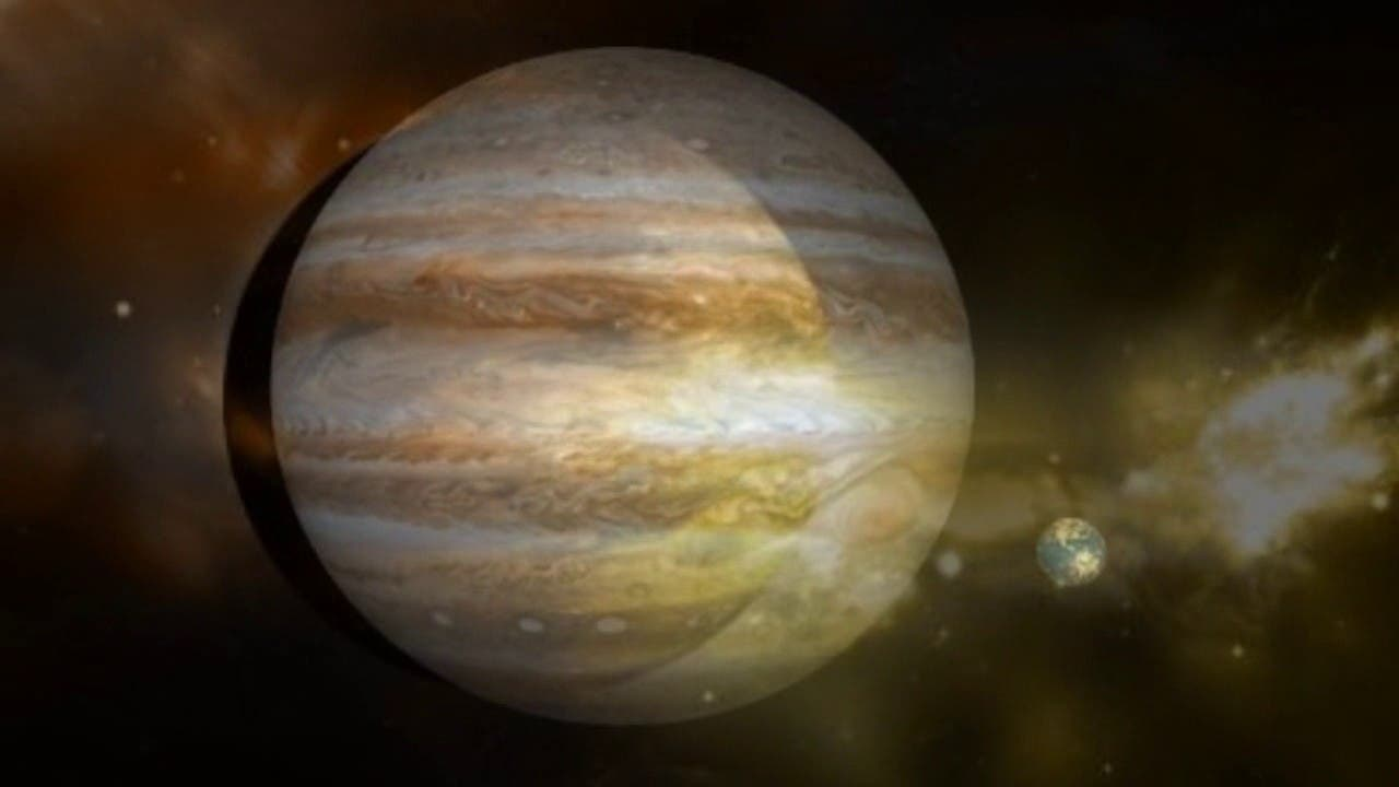 NASA capta tormenta con nubes brillantes en Júpiter