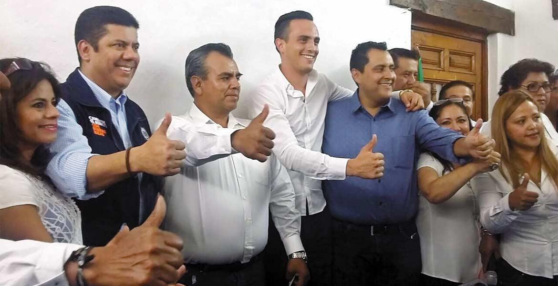 Registro. Javier Bolaños estuvo en Cuernavaca para acompañar el proceso de renovación del Comité Directivo Municipal.
