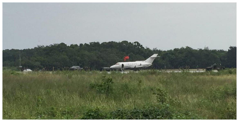 Jet fue abandonado en Chetumal con más de una tonelada de cocaína