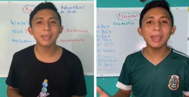 Joven enseña Maya en Tik Tok y se vuelve viral