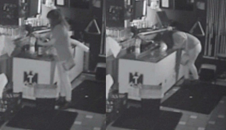 Joven queda encerrada en bar; aprovechó para seguir tomando gratis