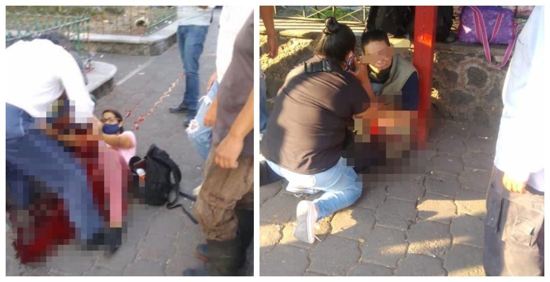 Lesionan con arma de fuego a dos mujeres y un policía en la Glorieta de la Luna